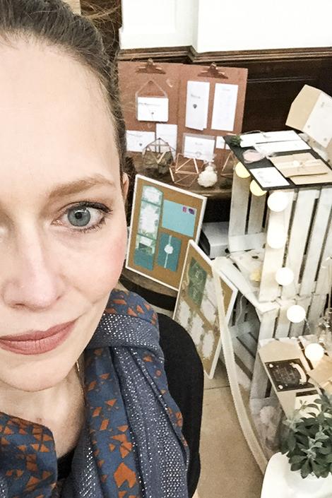 Messestand HERZ-Blatt Hochzeitspapeterie auf der Vintagewedding 2016 Hamburg Melina Leibelt