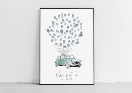 Mini cooper weddingtree gästebuch