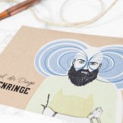 Postkarte Stand der Dinge, Augenringe mit Illustration von Melina Leibelt