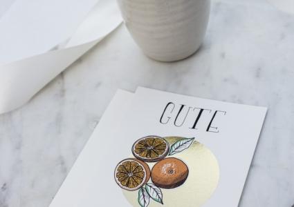 Gute Besserung krank vitamine Orangen