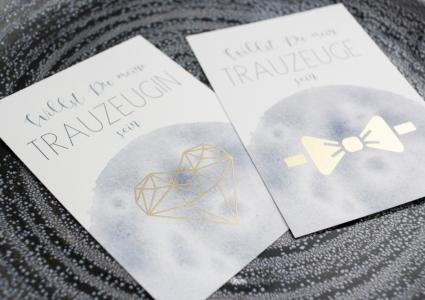 Postkarten Trauzeuge Trauzeugin
