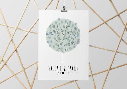 Weddingtree geometrisch geometrischGästebuch Baum