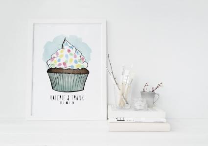 cupcake Gästebuch hochzeit