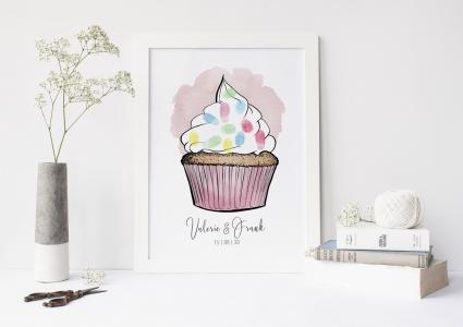 cupcake Gästebuch fingerabdruck