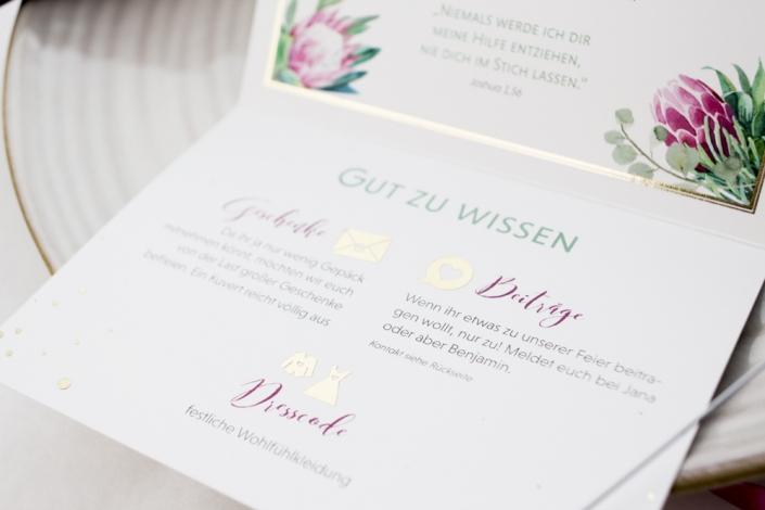 details Hochzeitseinladung