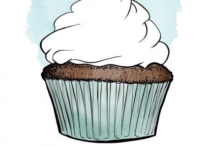 Illustration Cupcake Weddingtree individuell