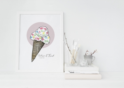 Eis Gästebuch Hochzeit Eistüte