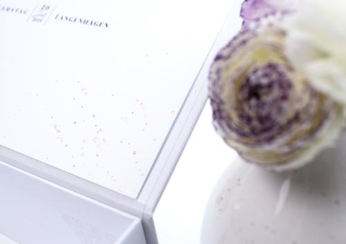 Gstebuchbox rosegold veredelung