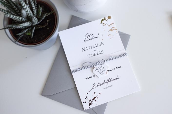 Hochzeitseinladung mit Umschlag