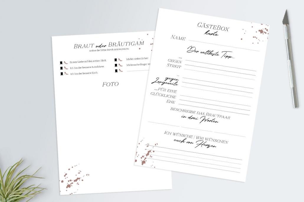 Gästekarte Gästebuch