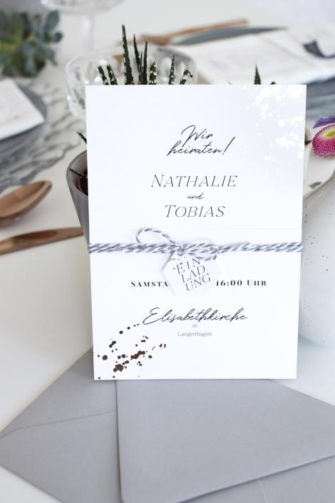 Hochzeitseinladung gebündelt