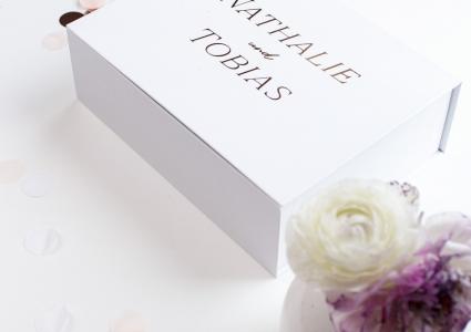 gästebuch mit rosegold