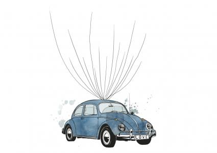 VW Käfer weddingtree