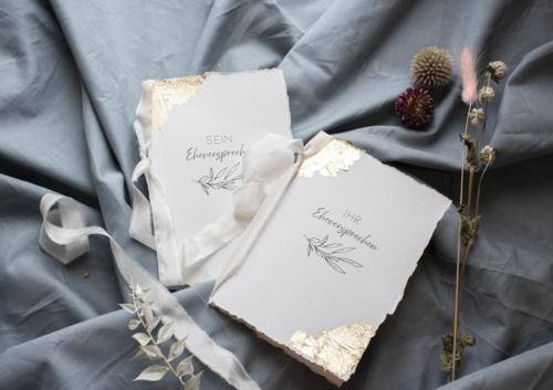 Vow book gold leaf