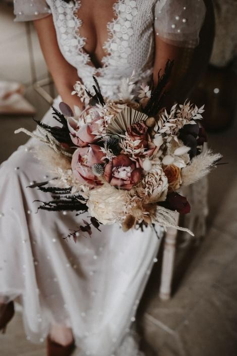 moho wedding dryed Flowers
