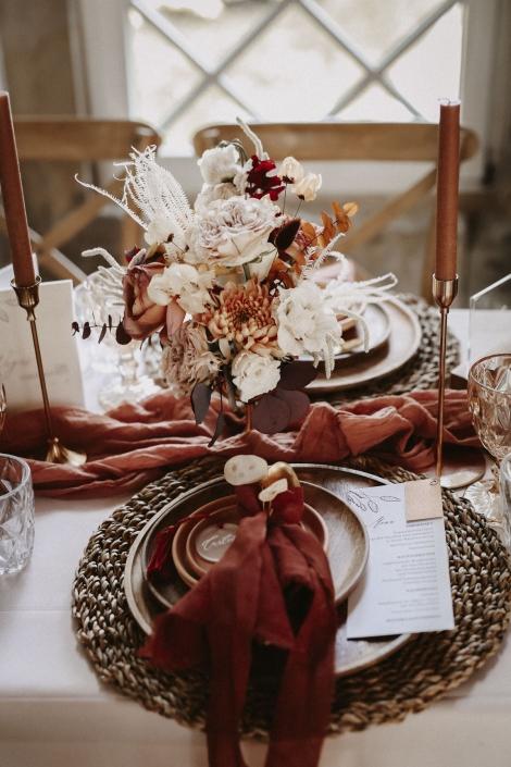 Moho Wedding Tischdekoration