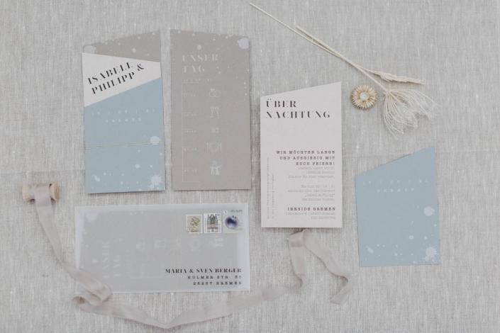 Hochzeitseinladungs Set