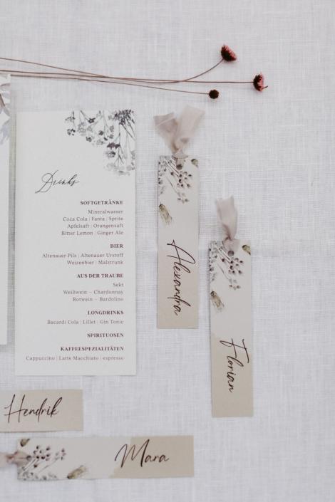 Hochzeitseinladungs Set namensschilder