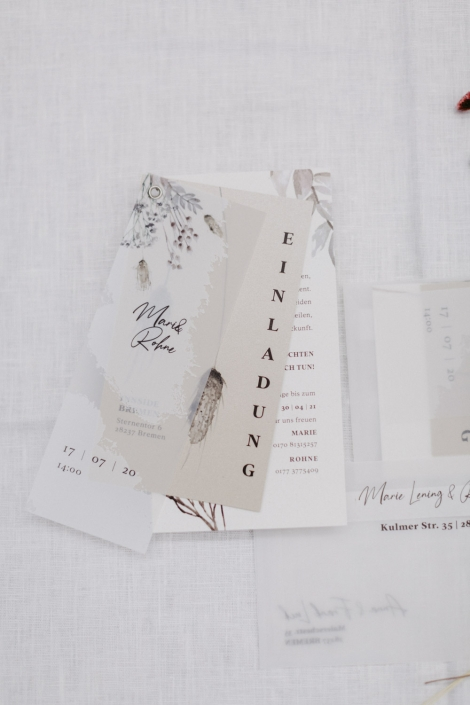 Hochzeitseinladungs Set Einladungskarte