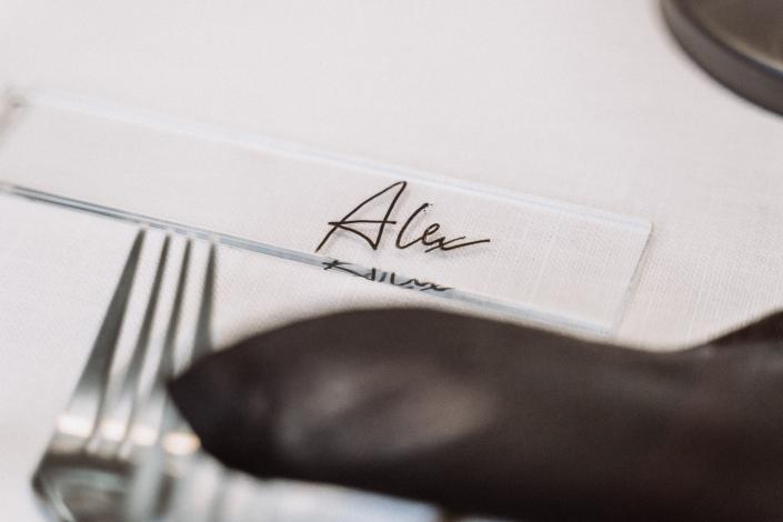 Gastgeschenk hochzeit Name kalligrafie