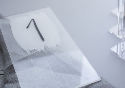 Tischnummer Acryl Transparent
