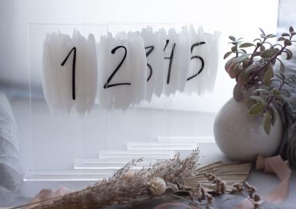 Tischnummern Acryl Transparent