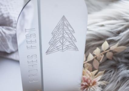 Weihnachtlicher Spiegel Acryl Aufsteller