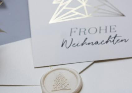 Weihnachtskarte geometrischer Weihnachtsbaum