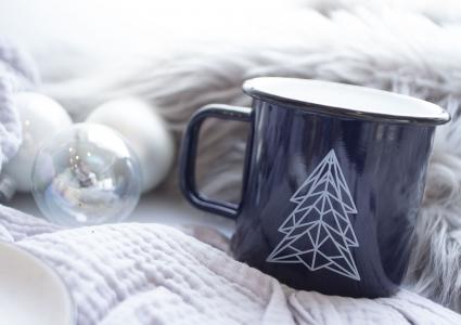 Emaille Becher Weihnachten