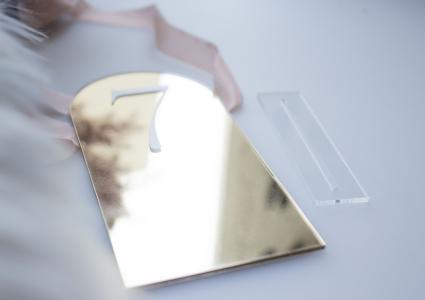 Spiegel Acryl Tischnummer
