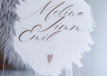 Acryl Schild mit namen familie wohndeko