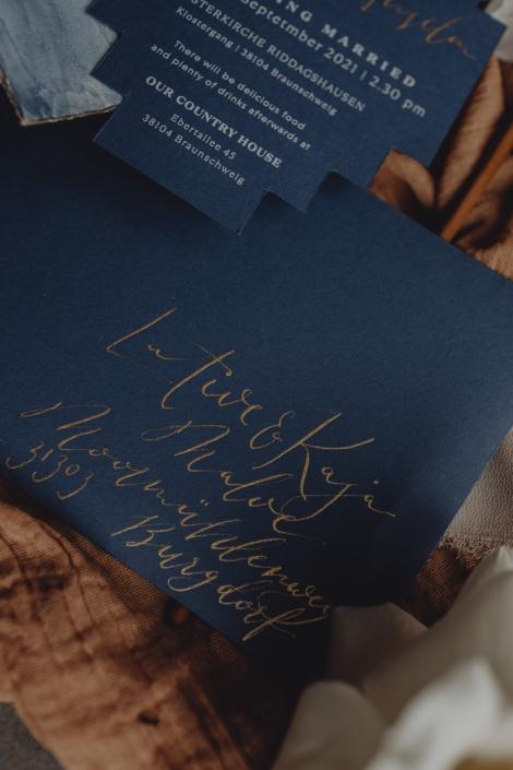 Feinstpapier mit Kalligrafie hochzeit