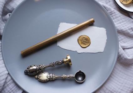 1 Siegelwachsstange Gold metallic